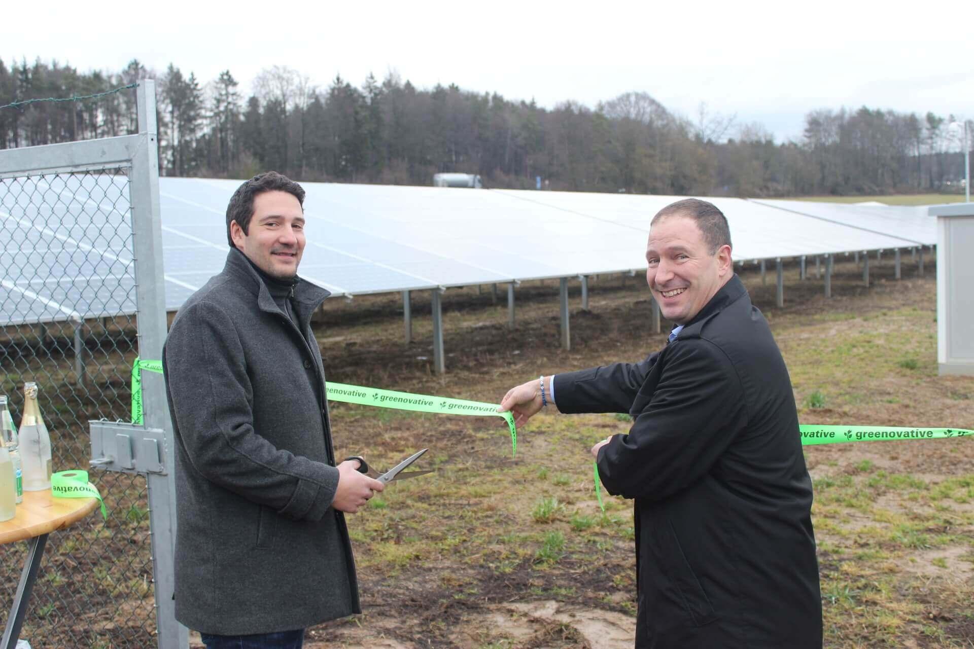 Einweihung Solarpark Schnaittach
