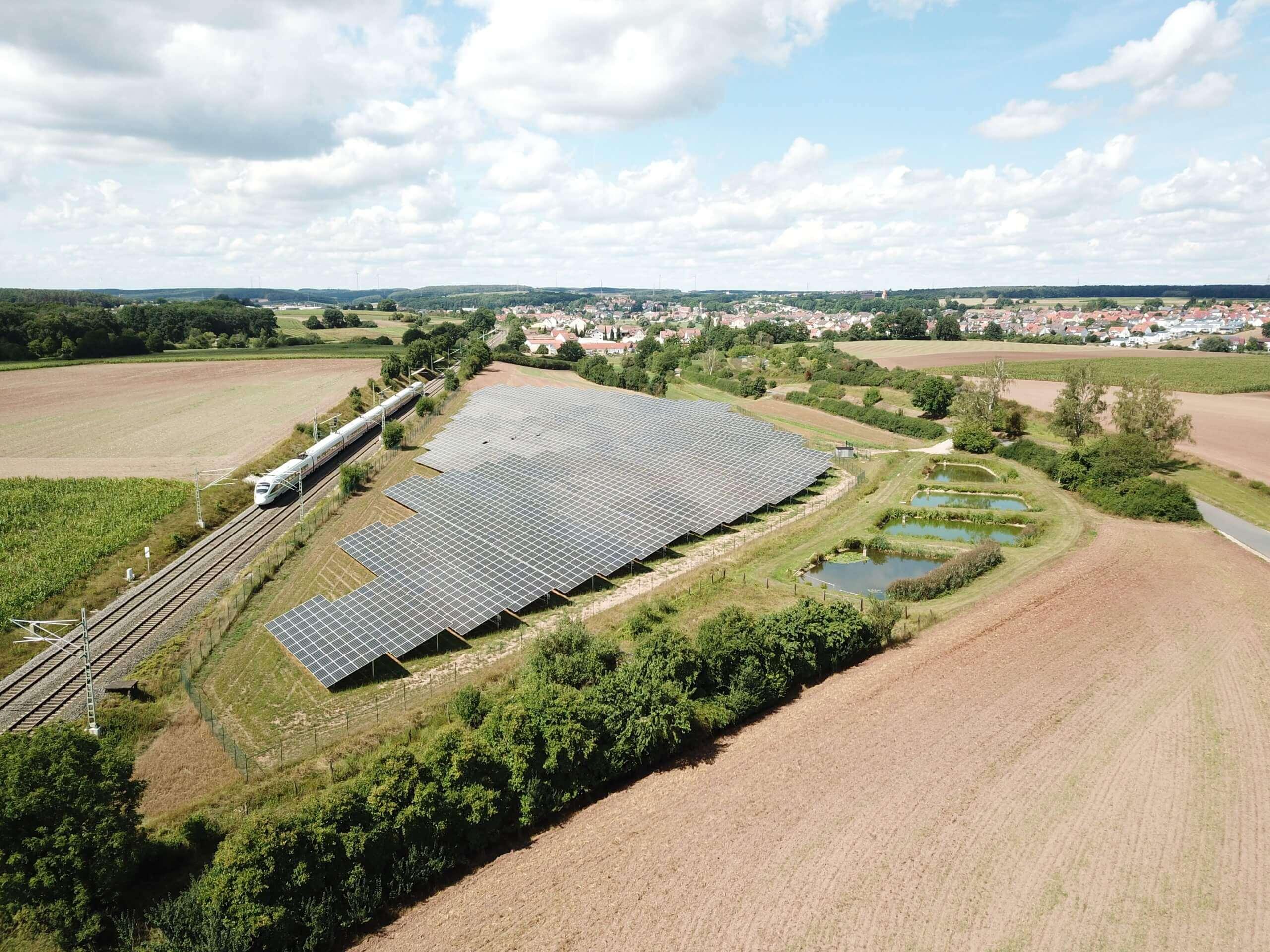 Solarpark Veitsbronn Luftbild