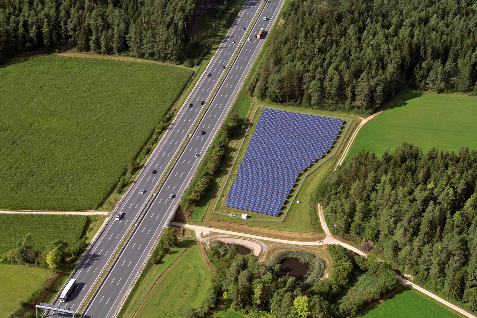 Solarpark Ottenhof Luftbild
