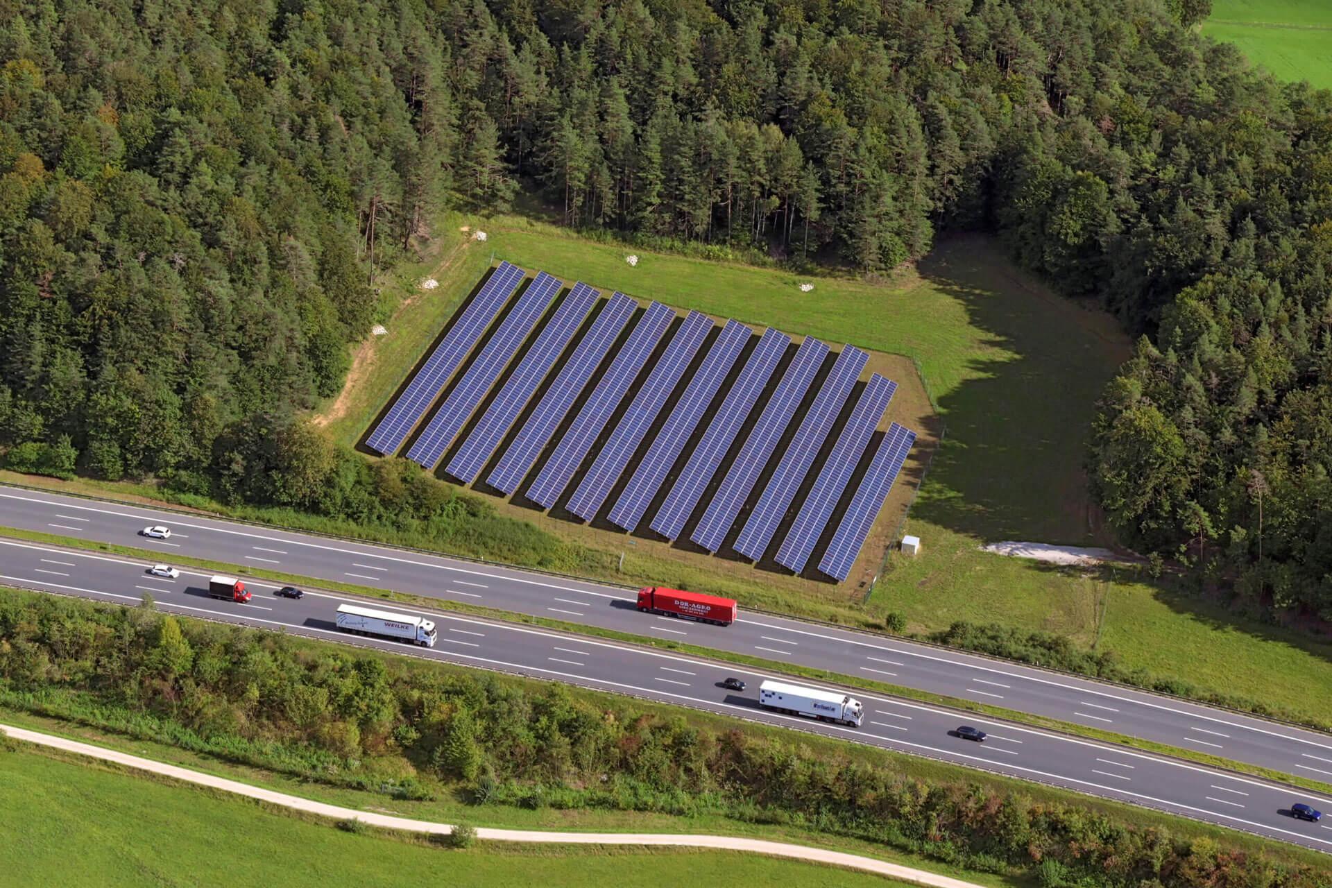 Solarpark Plech Luftbild
