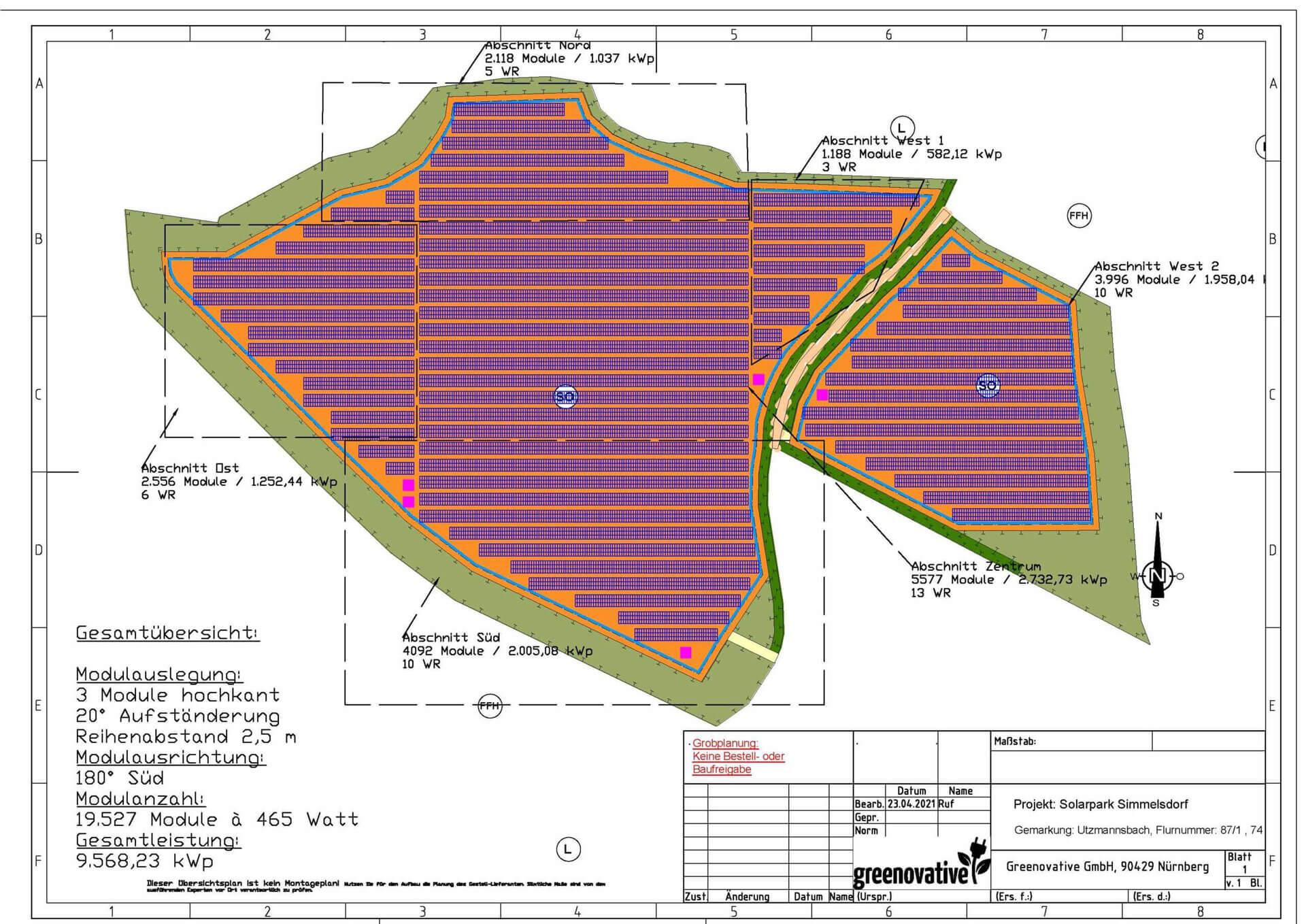 10 MWp Solarpark mit Bürgerbeteiligung in Simmelsdorf baureif